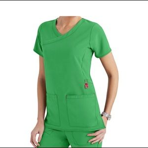 Carhartt Tops - Carhartt Kelly Green Scrub Top